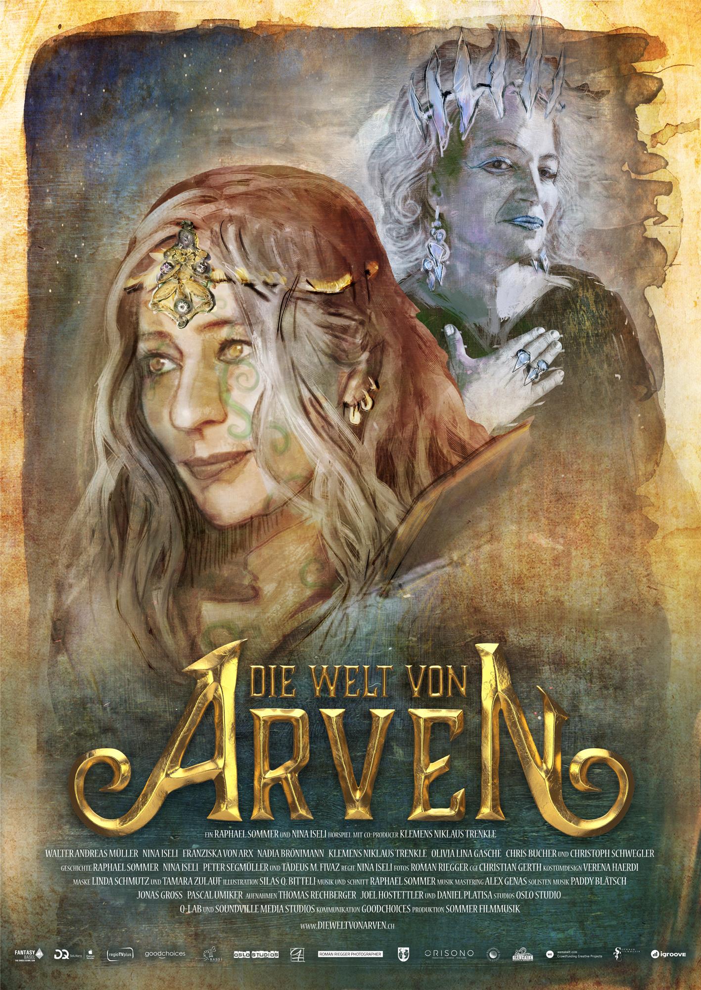 Die Welt von Arven - Das Schwert der Ahnen - E-Book Poster - Nina Iseli und Franziska von Arx